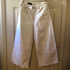 J. CREW Rayner Wide Leg Denim Jeans